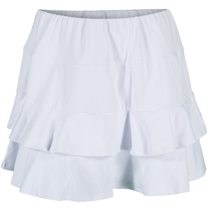 Women`s Doubles Tennis Skort White