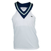 LACOSTE Women`s V Neck Technical Tennis Tank Top White