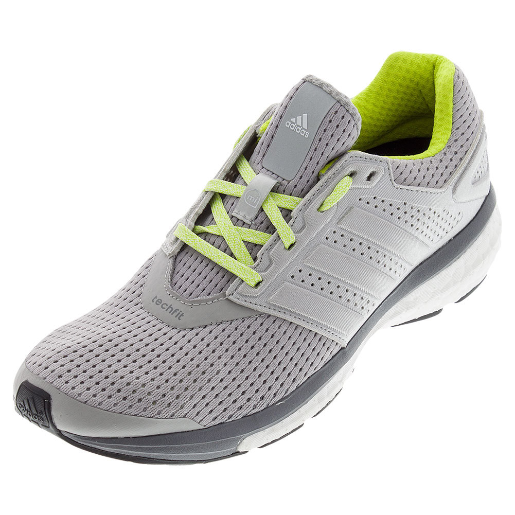 Women's Supernova Glide 7 Running Shoes Light Gray Heather And Semi Solar Yellow