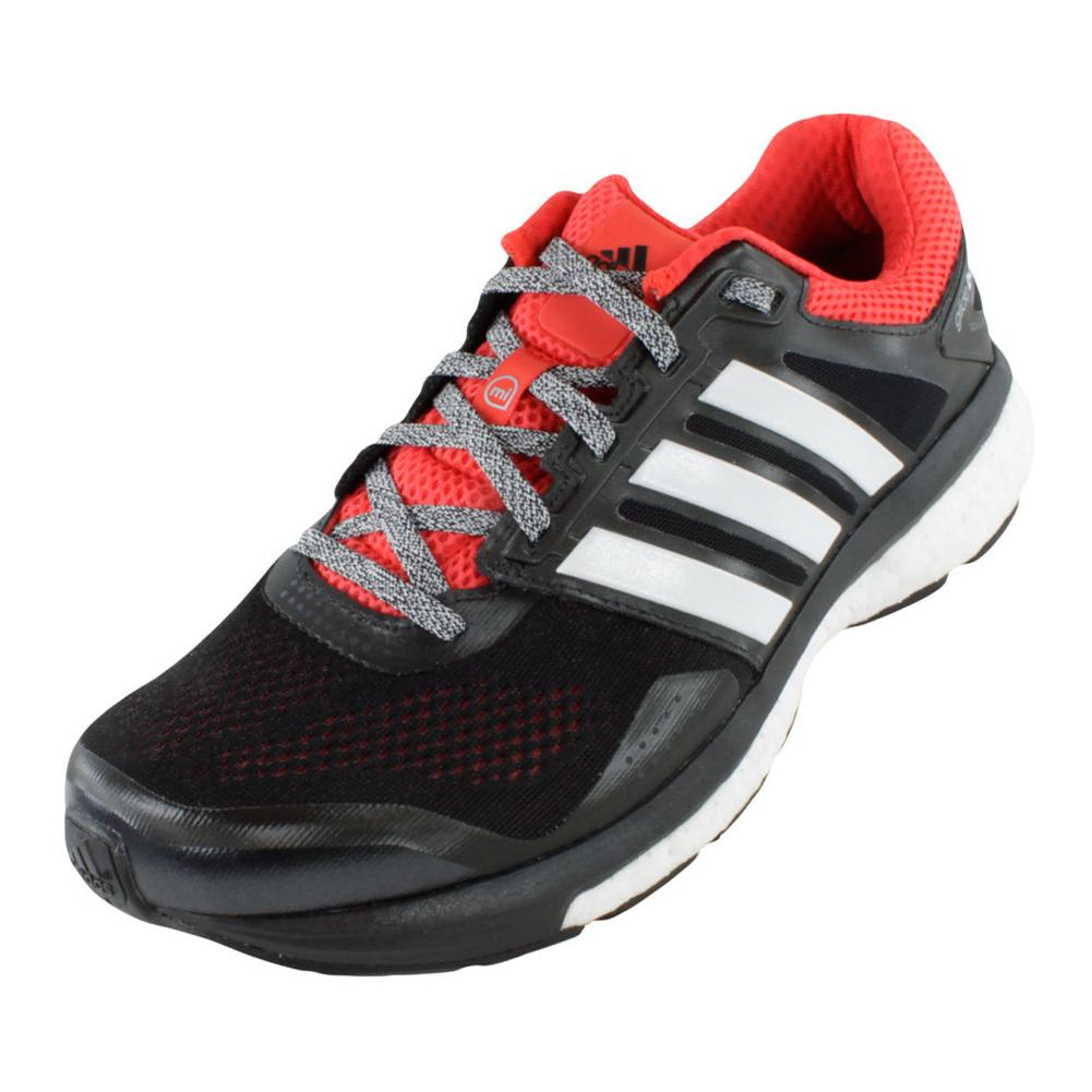 ADIDAS Men's Supernova Glide 7 Running Shoes Black and White - Tennis Express