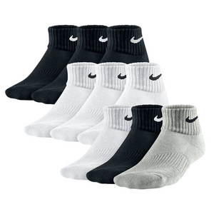 Boys` Cotton Cushion Quarter Sock 3 Pack