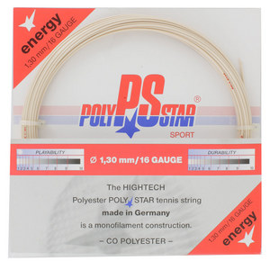 POLY STAR POLY STAR ENERGY 16G TENNIS STRING NATUR
