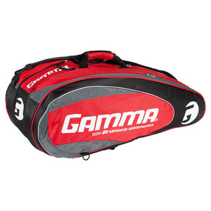 GAMMA RZR 10 PACK TENNIS RACQUET BAG RED/BLACK