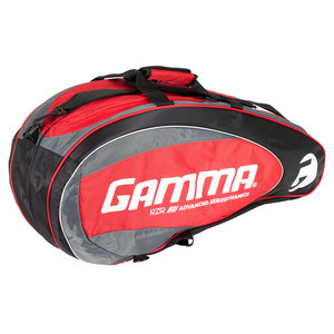 RZR Six Pack Tennis Racquet Bag Red and Black