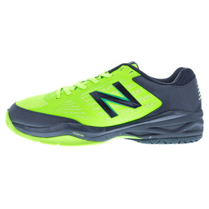 Men`s 896 D Width Tennis Shoes Lime Green and Gray