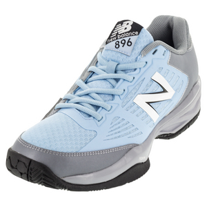 Men`s 896 D Width Tennis Shoes Light Gray and Light Blue