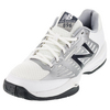 NEW BALANCE Men`s 896 D Width Tennis Shoes White and Blue