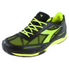 DIADORA Men`s S Pro Evo AG Tennis Shoes Black and Fluo Yellow