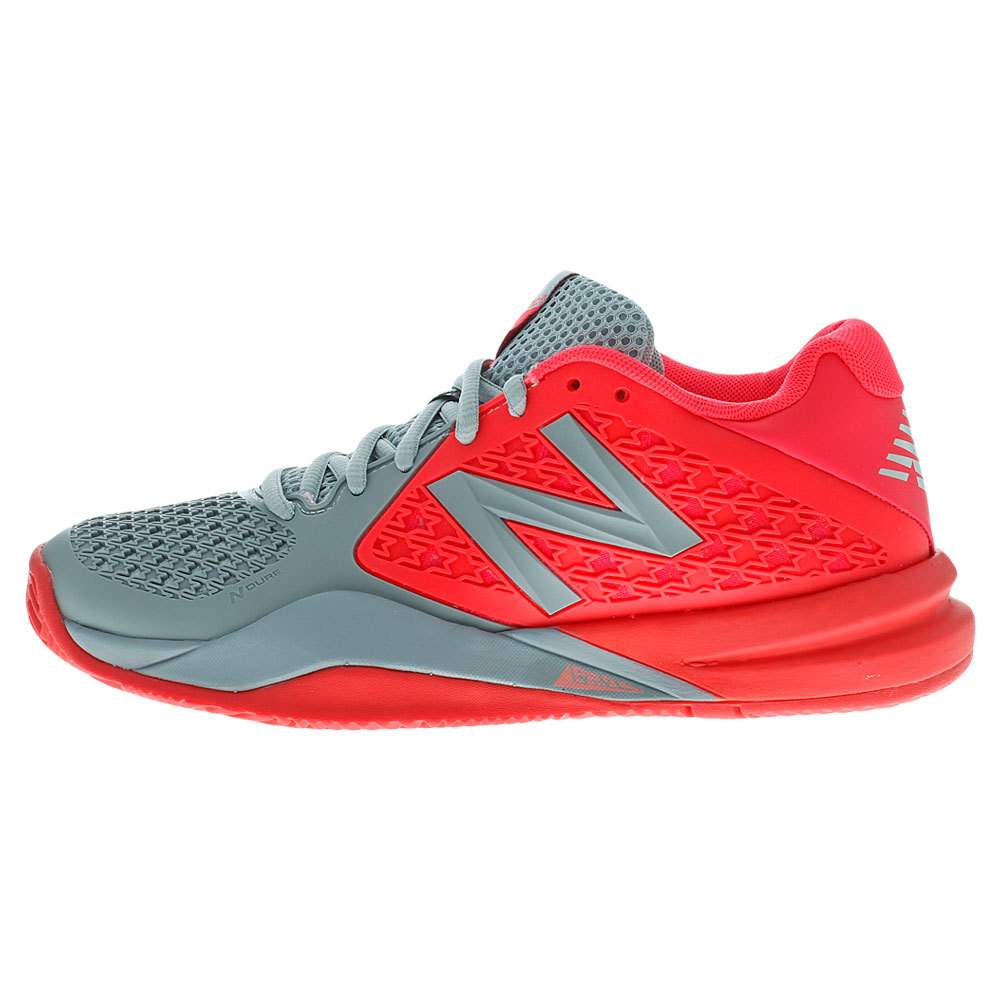 Women's 996v2 D Width Tennis Shoes Pink And Dark Gray