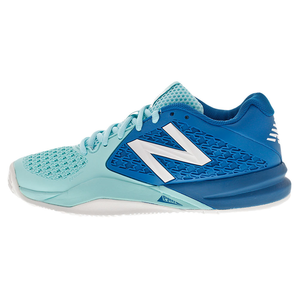 Women's 996v2 D Width Tennis Shoes Light Blue And Blue
