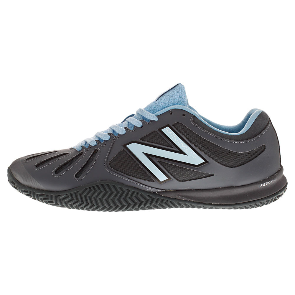 NEW BALANCE Men`s 60v1 Clay Court D Width Tennis Shoes Gray and Blue