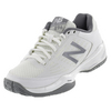 Women`s 896 B Width Tennis Shoes White and Silver by NEW BALANCE