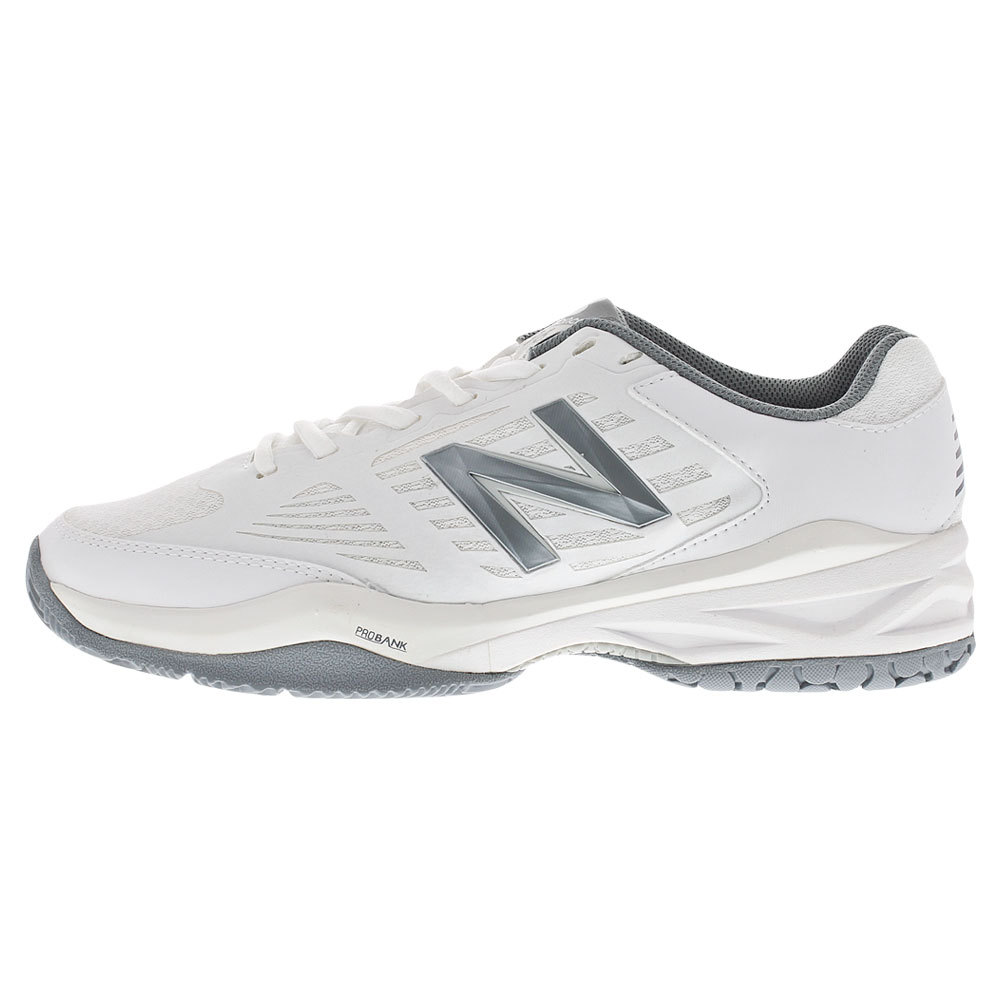 Women's 896 D Width Tennis Shoes White And Silver