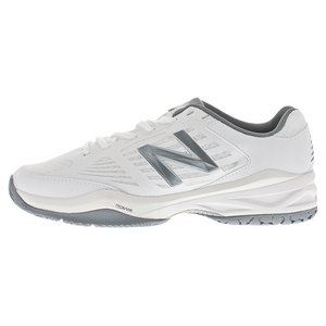 Women`s 896 D Width Tennis Shoes White and Silver