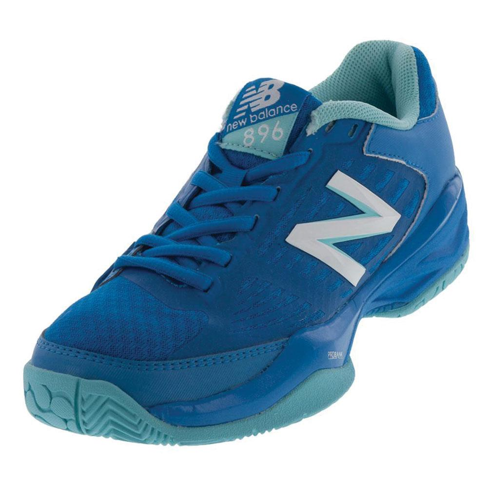 Women's 896 B Width Tennis Shoes Dark Blue And Light Blue