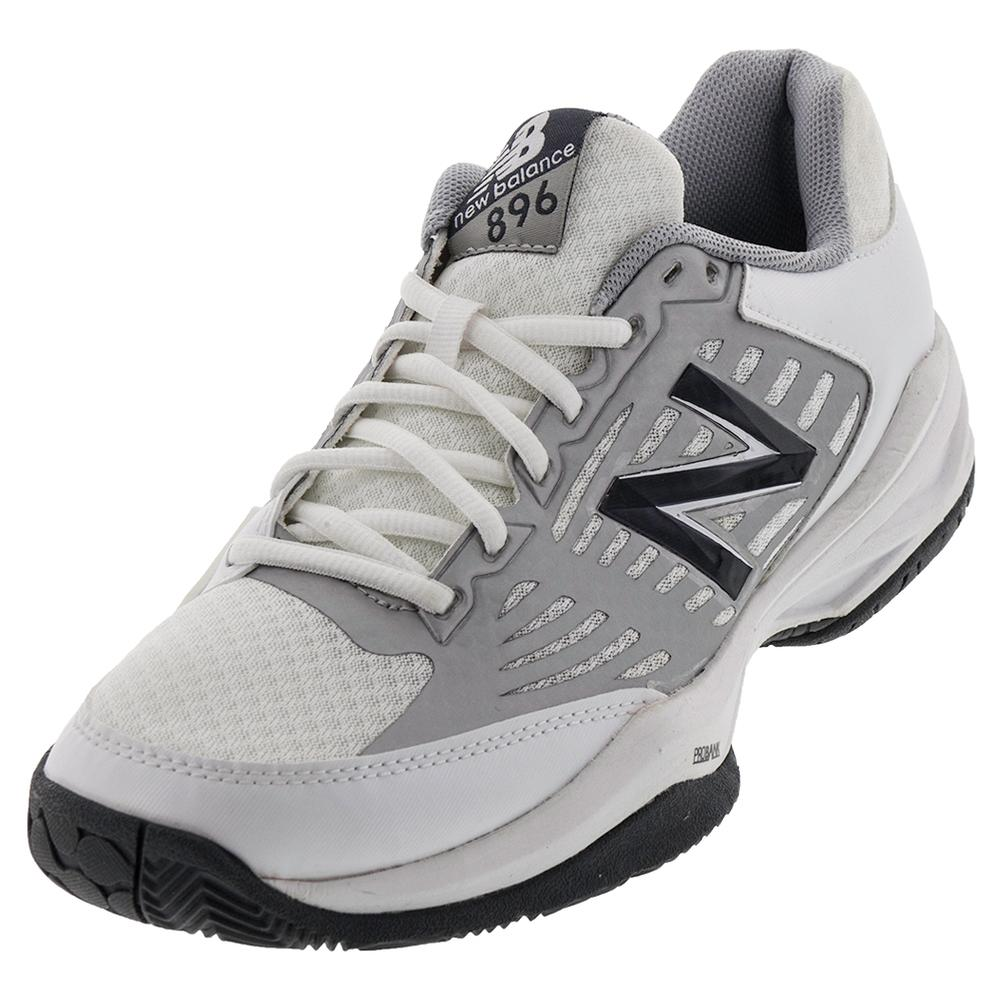 Men's 896 2e Width Tennis Shoes White And Blue