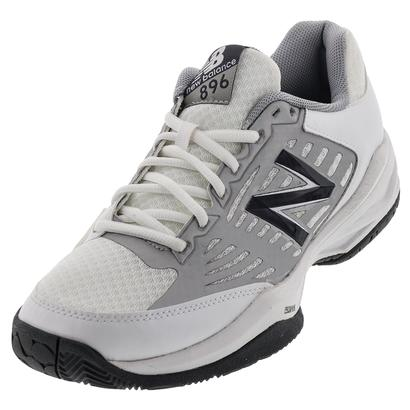 Men`s 896 2E Width Tennis Shoes White and Blue