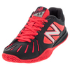 NEW BALANCE Women`s 60v1 D Width Clay Tennis Shoes Pink and Dark Gray