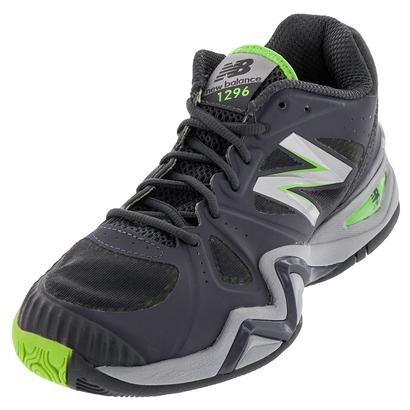 Men`s 1296v1 D Width Tennis Shoes Gray and Green