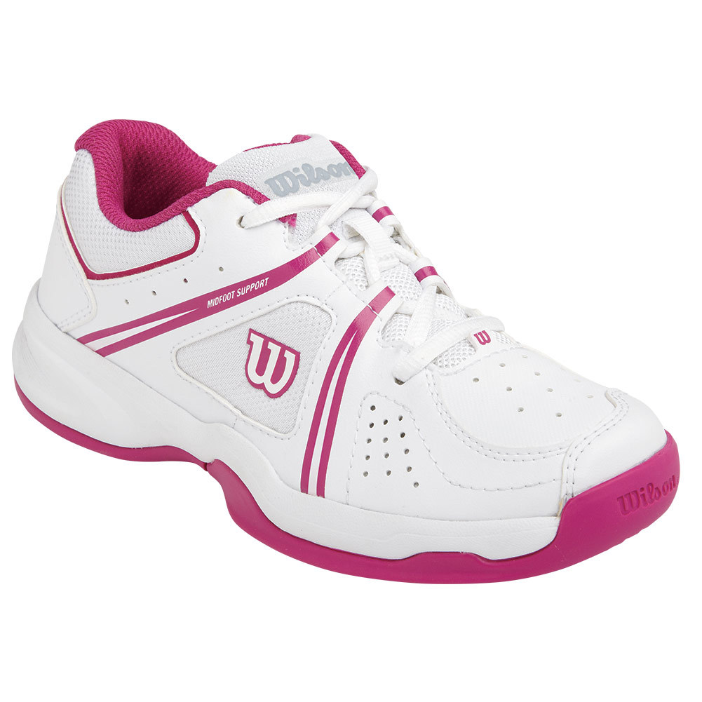 wilson juniors nvision envy tennis shoes white and
