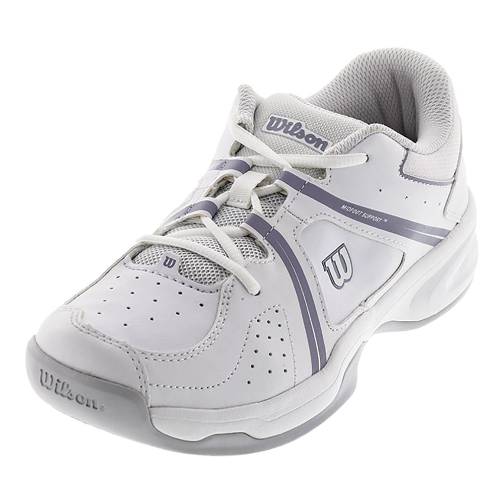 Juniors ` Nvision Envy Tennis Shoes White And Pearl Gray