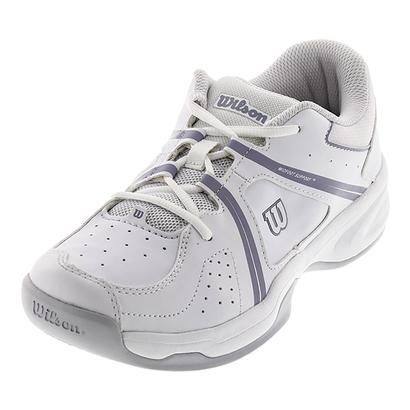 Juniors` Nvision Envy Tennis Shoes White and Pearl Gray