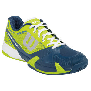 Men`s Rush Pro 2.0 Tennis Shoes Solar Lime and Pacific Teal