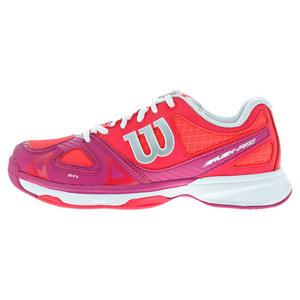 Juniors` Rush Tennis Shoes Neon Red and Fiesta Pink