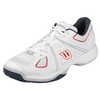 WILSON Men`s Nvision Tennis Shoes White and Pearl Gray