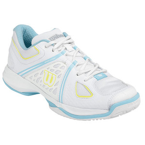 WILSON WOMENS NVISION TENNIS SHOES WH/ISLAND TQ