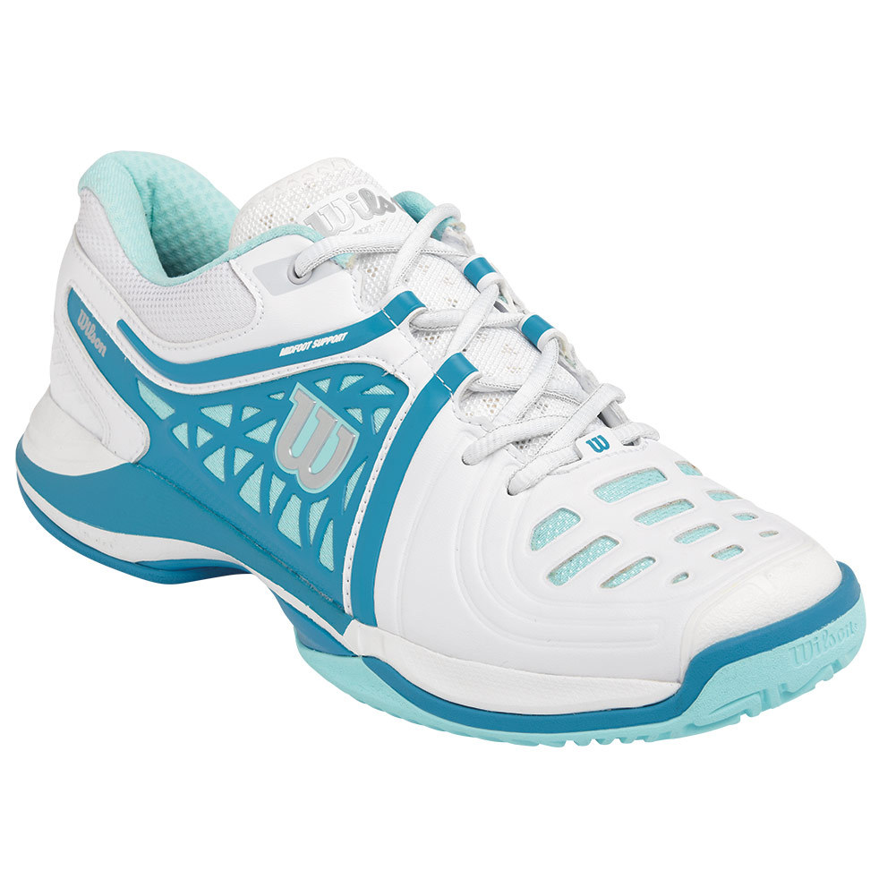 wilson s nvision elite tennis shoes white and mint