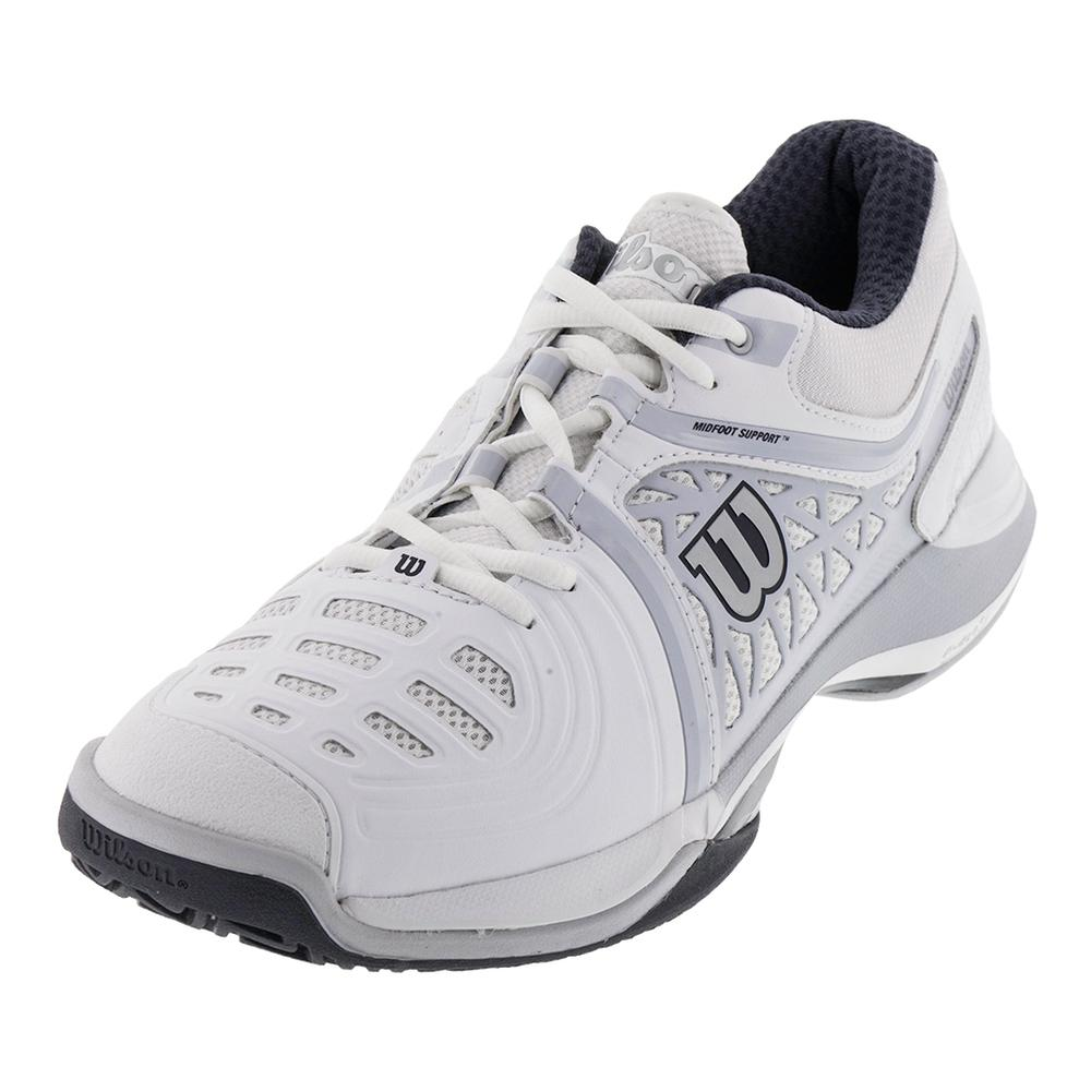 wilson s nvision elite tennis shoes white and pearl gray