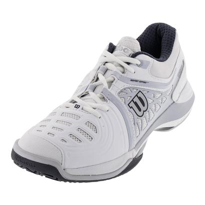 WILSON MENS NVISION ELITE TENNIS SHOES WH/PL GY