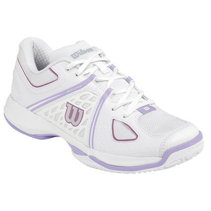 WILSON WOMENS NVISION TENNIS SHOES WH/VIO ICE
