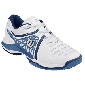 Men`s Nvision Elite Tennis Shoes White and Denim