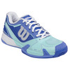 WILSON Women`s Rush Pro 2.0 Tennis Shoes Dark Peri Blue and Mint Ice