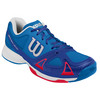 WILSON Men`s Rush Evo Tennis Shoes Neptune Blue and Blue Iris