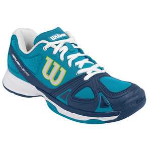 Women`s Rush Evo Tennis Shoes Light Ultramarine and Pacific Teal