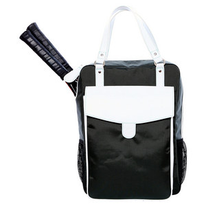 The Brisbane Tennis Backpack Gray and White