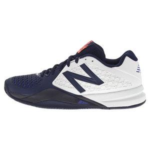 NEW BALANCE MENS 996V2 2E WIDTH TNS SHOES WHITE/BLUE