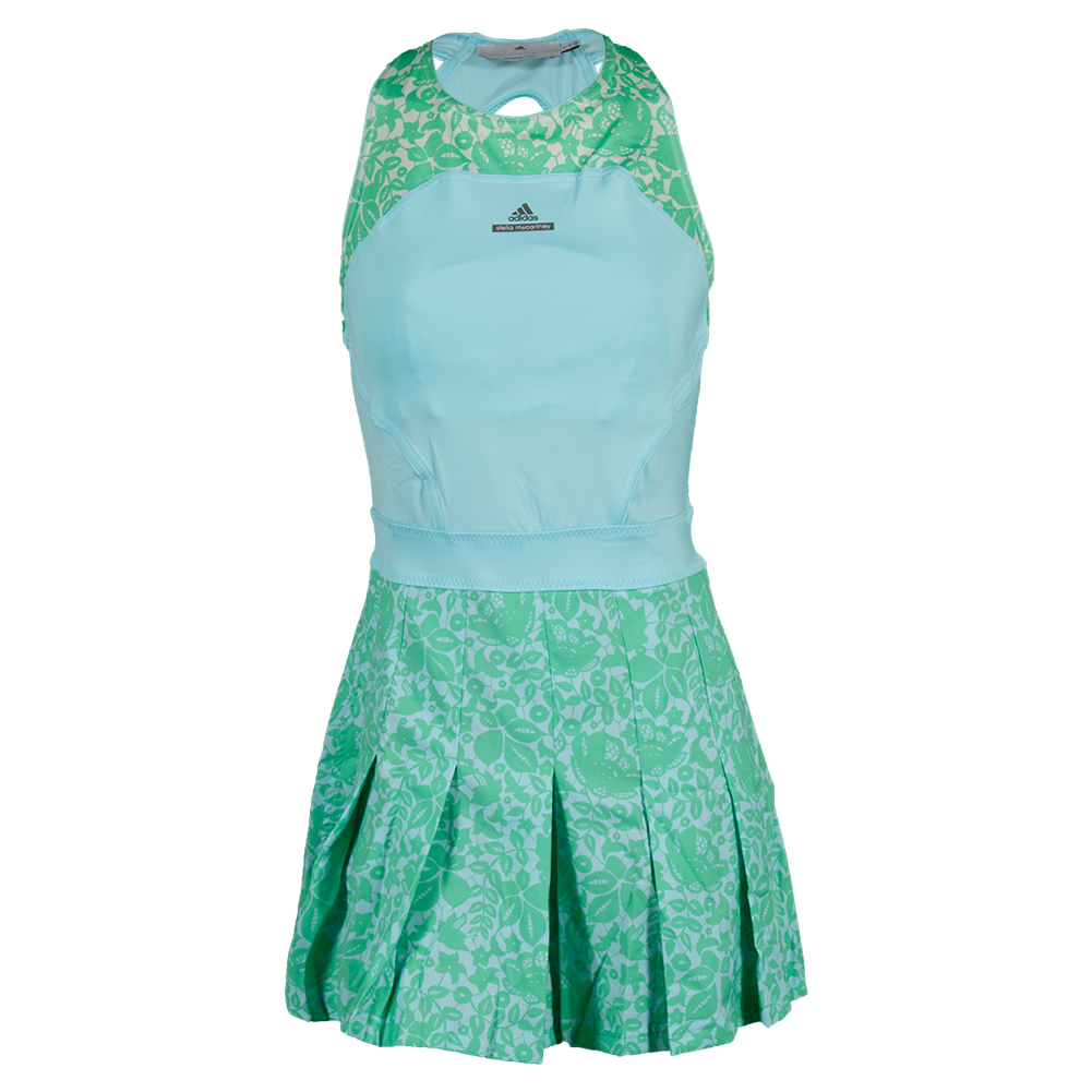 ADIDAS Women's Stella McCartney Barricade Aussie Tennis Dress Sky Blue and Mint - Tennis Express