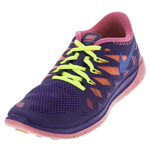Girls` Free 5.0 Shoes Hyper Grape and Hyper Pink