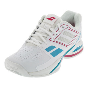 Women`s Propulse Team BPM All Court Tennis Shoes White and Pink