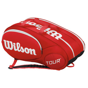 Mini Tour 6 Pack Tennis Bag Red