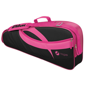 Hope 3 Pack Tennis Bag Black and Pink