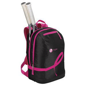 Hope Tennis Backpack Black and Pink