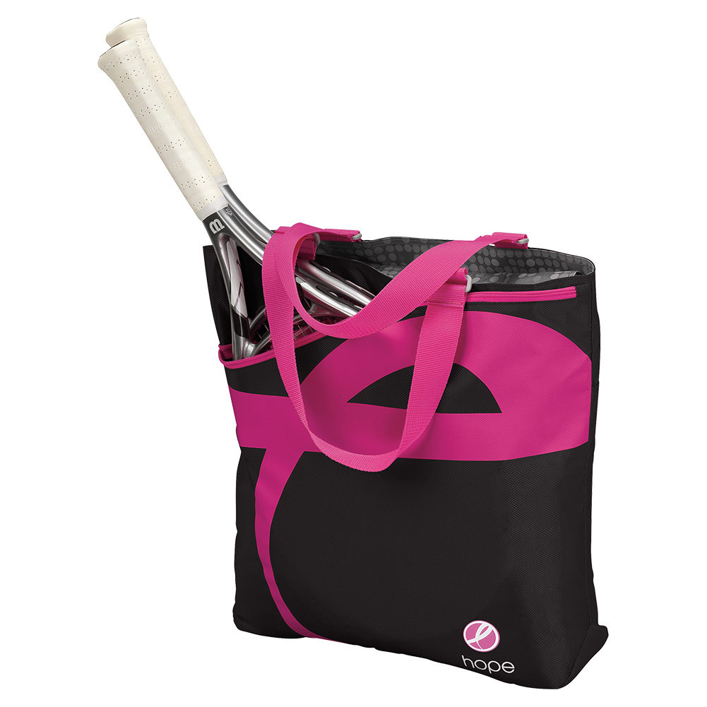 Hope Tennis Tote Black And Pink