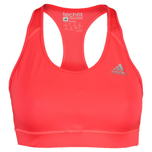 Women`s Techfit Tennis Bra Flash Red