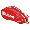 Tour Molded 2.0 6 Pack Tennis Bag Red by WILSON