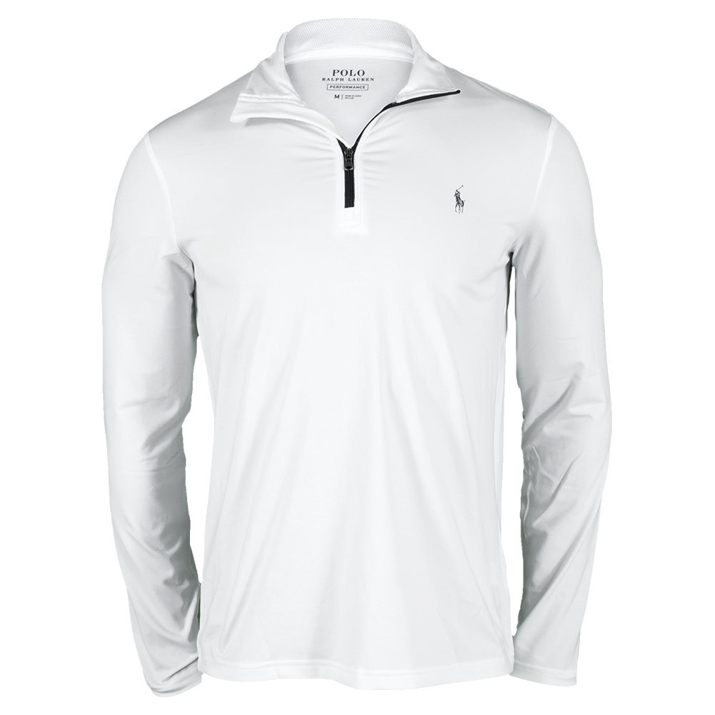 Polo Ralph Lauren Men's Performance Long Sleeve Interlock 1/2 Zip Tennis Top Pure_white - Tennis Express coupons 2016